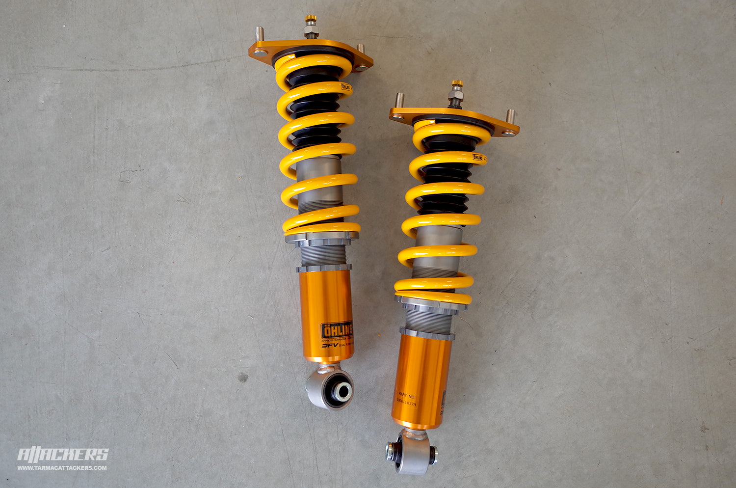Essentials: Ohlins Road & Track Coilovers Ready for Install — TARMAC