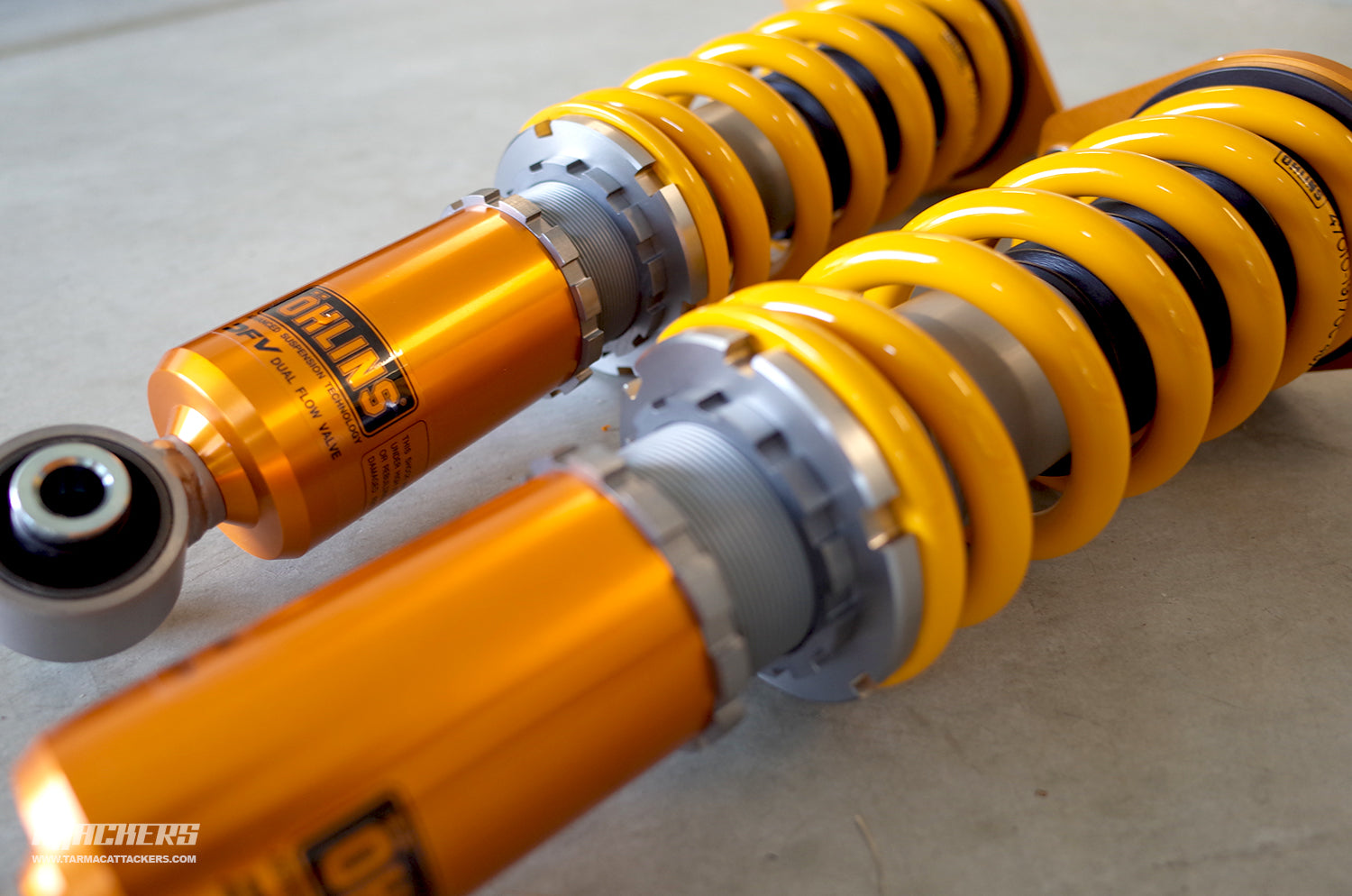 Essentials: Ohlins Road & Track Coilovers Ready for Install