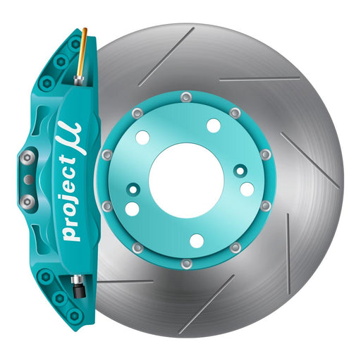 Project Mu Forged Caliper Big Brake Kit Teal - 2008-2014 Subaru STI-Project Mu-TARMAC ATTACKERS