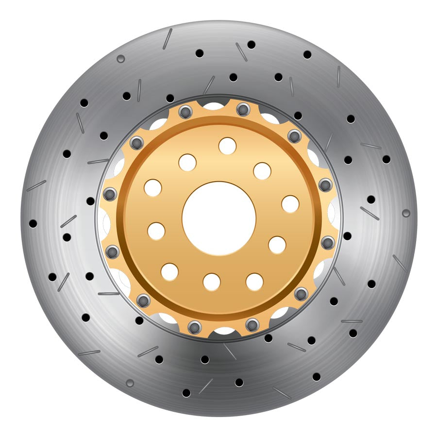 DBA 5000 Series Front Drilled/Slotted Rotor Pair - 2008-2014 Subaru STI-DBA-TARMAC ATTACKERS