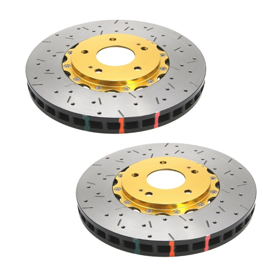 DBA 5000 Series Front Drilled/Slotted Rotor Pair - 2015+ Subaru STI-DBA-TARMAC ATTACKERS