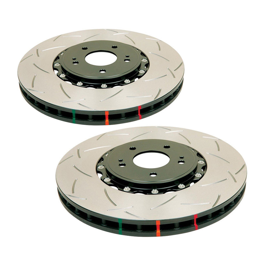 DBA 5000 Series Front T-Slot Slotted Rotor Pair - 2015+ Subaru STI-DBA-TARMAC ATTACKERS