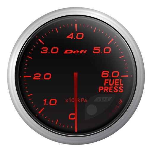 Defi Advance BF Red Fuel Pressure Gauge Metric - Universal-Defi-TARMAC ATTACKERS