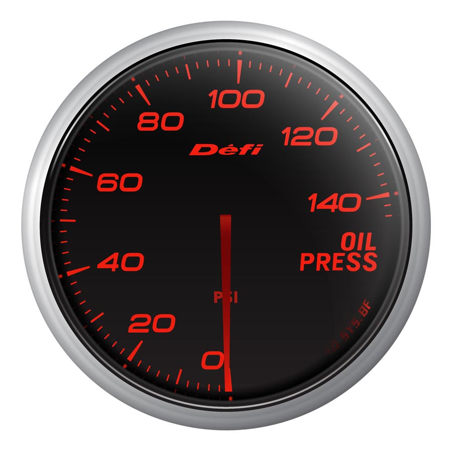Defi Advance BF Red Oil Pressure Gauge Imperial - Universal-Defi-TARMAC ATTACKERS