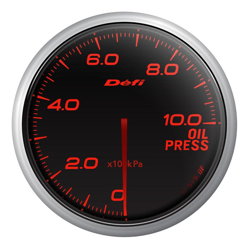 Defi Advance BF Red Oil Pressure Gauge Metric - Universal-Defi-TARMAC ATTACKERS