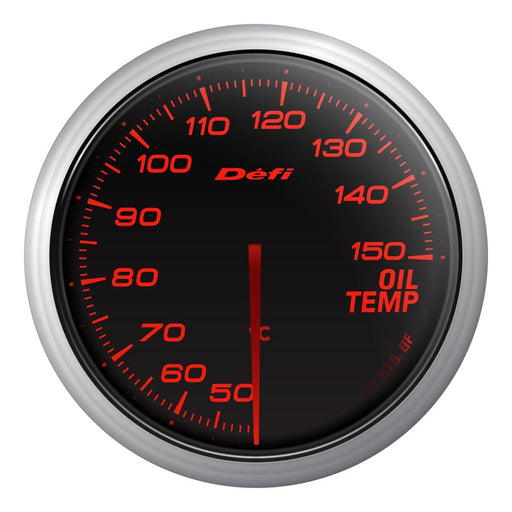 Defi Advance BF Red Oil Temp Gauge Metric - Universal-Defi-TARMAC ATTACKERS