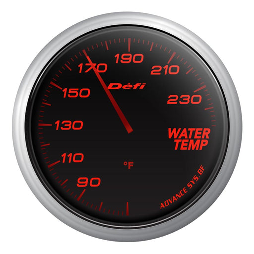 Defi Advance BF Red Water Temp Gauge Imperial - Universal-Defi-TARMAC ATTACKERS