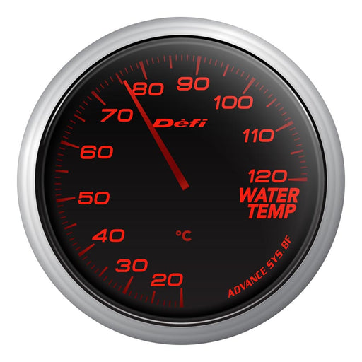Defi Advance BF Red Water Temp Gauge Metric - Universal-Defi-TARMAC ATTACKERS