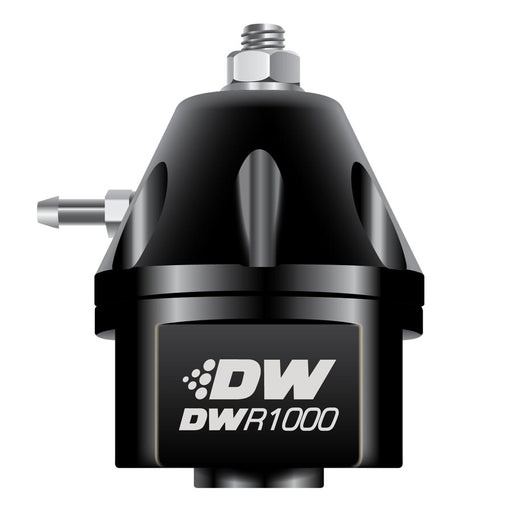 DeatschWerks DWR1000 Adjustable Fuel Pressure Regulator Black - 2008+ Mitsubishi Evo X-DeatschWerks-TARMAC ATTACKERS