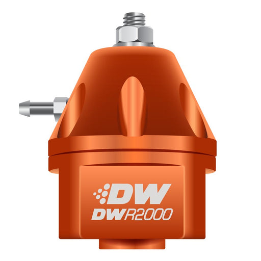 DeatschWerks DWR2000 Adjustable Fuel Pressure Regulator Orange - 2008+ Mitsubishi Evo X-DeatschWerks-TARMAC ATTACKERS