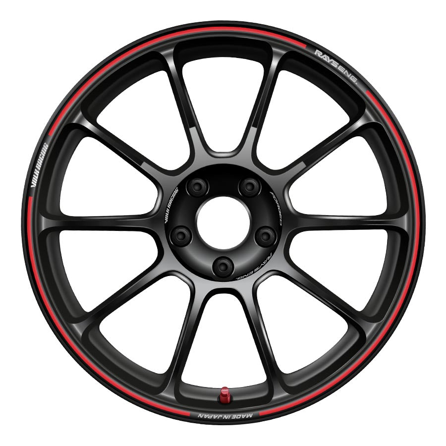 Volk ZE40 Time Attack Edition Wheels - Black and Red-Volk-TARMAC ATTACKERS