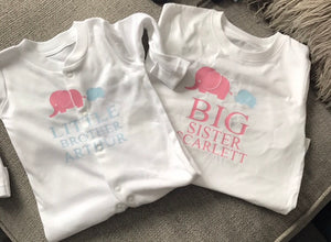 Personalised baby clothes geordie printcess in washington sunderland sibling baby gro and t shirt negle Gallery