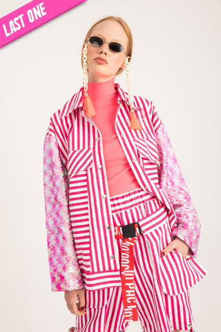 PINK STRIPED Jacket