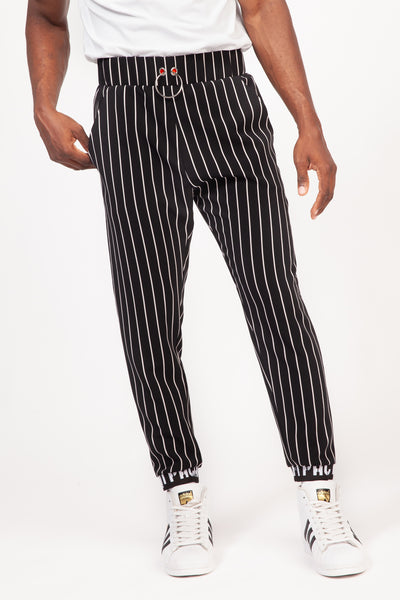 STRIPED Black & White Trousers