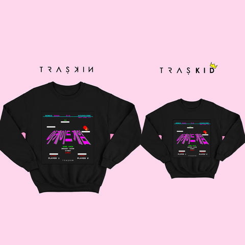 MINI RETRO ARCADE GAMES SWEATSHIRT  BLACK | UNISEX