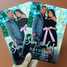 Photo save the date with magnet