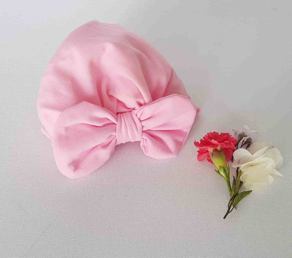 Baby Bow Turban in Pink
