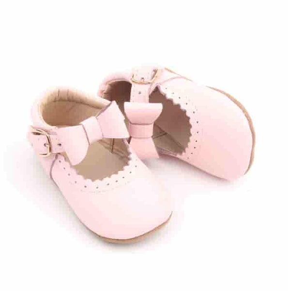 """Daisy"" Detachable Bow Shoes in Pink"
