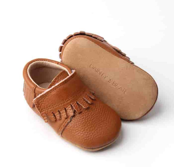 Jack Loafer Style Moccasins in Brown Tan