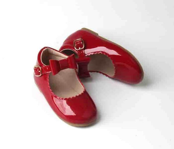 Christmas red patent Mary Jane shoes