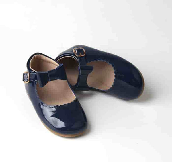 Christmas navy patent Mary Jane shoes