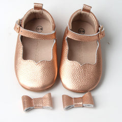 Rose Gold Christmas Baby Shoes