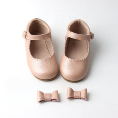 Hard Sole leather Mary Janes Blush Pink