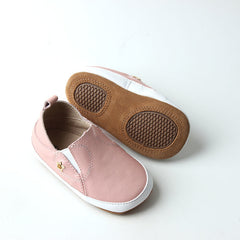 baby  pre-walker loafers in shell pink