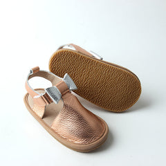 Rose Gold pre-walker summer sandal