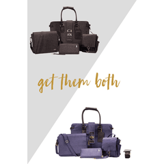 Duo Set, Power Black and Royal Blue KETCHBAG™ CarryAll Tote Sets