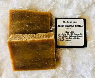 Fresh Brewed Coffee Soap Bar- Goat Milk