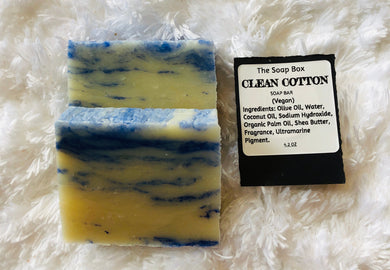 Clean Cotton Soap Bar - Vegan