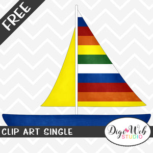 Free Sailboat Clip Art Single
