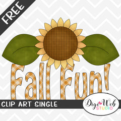 Free Fall Fun Word Art Clip Art Single