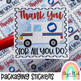 PSS2 Postal Worker Thank You - Packaging Stickers (Set of 3 Sheets)