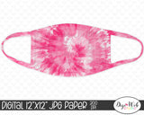 Breast Cancer Awareness Tie Dye Digital Paper - Design Element