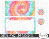 Tie Dye Digital Paper 1 - Design Element