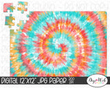 Tie Dye Digital Paper 4 - Design Element
