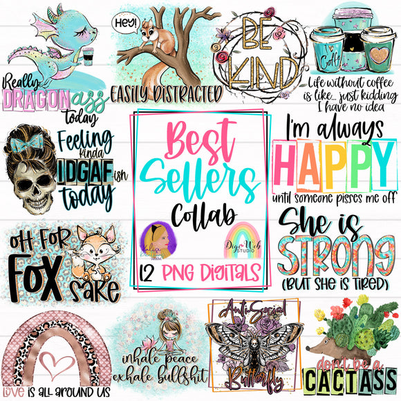 Best Sellers Collab with Kalise Kreations Designs - Digital Sublimation Printables