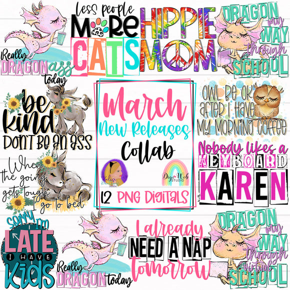 March New Releases Collab with Kalise Kreations Designs - Digital Sublimation Printables