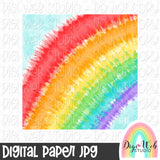 Rainbow Tie Dye Digital Paper - Design Element