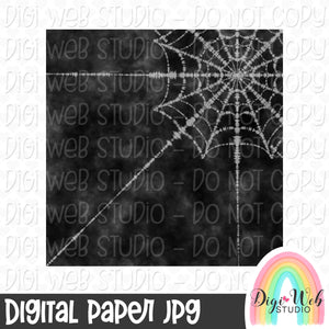 Halloween Spider Web Tie Dye Digital Paper 2 - Design Element