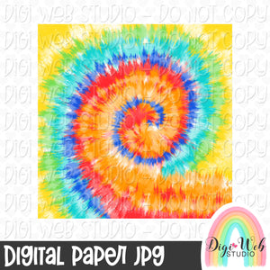 Tie Dye Digital Paper 2 - Design Element