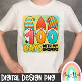 100 Days With My Gnomies - Digital Sublimation Printable