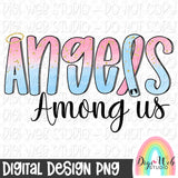 Infant Loss Awareness Angels Among Us - Digital Sublimation Printable