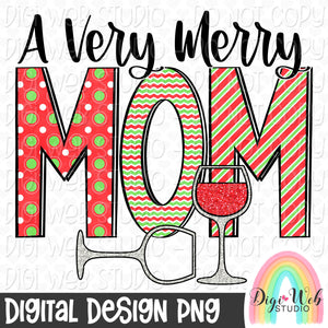 A Very Merry Mom - Digital Sublimation Printable