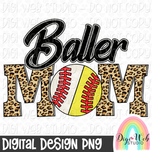 Baller Mom - Digital Sublimation Printable