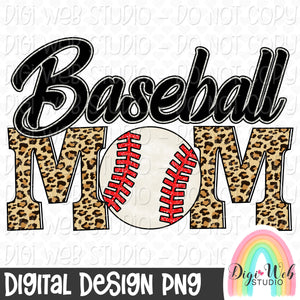 Baseball Mom - Digital Sublimation Printable