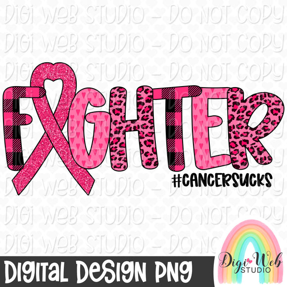 Breast Cancer Awareness Fighter Cancer Sucks - Digital Sublimation Printable