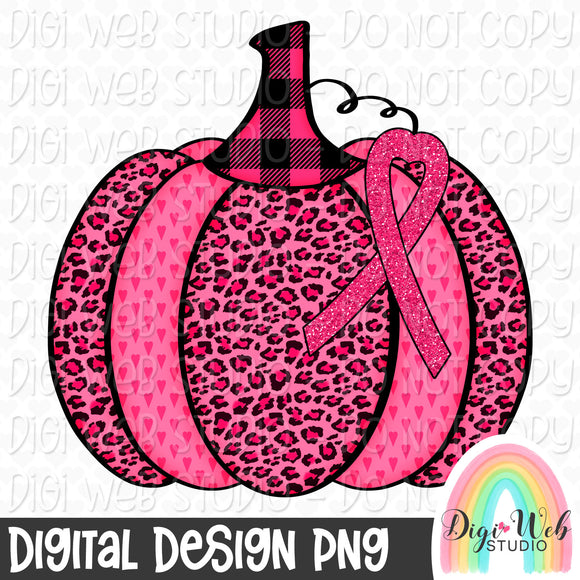 Breast Cancer Awareness Pumpkin - Digital Sublimation Printable